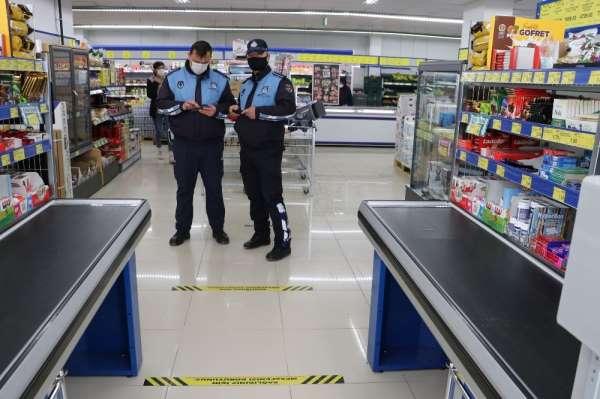 Havzada marketler denetlendi