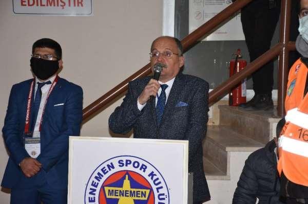 Menemenspor olağan genel kurulunda Kazım Hürol Taklak yeniden başkan seçildi