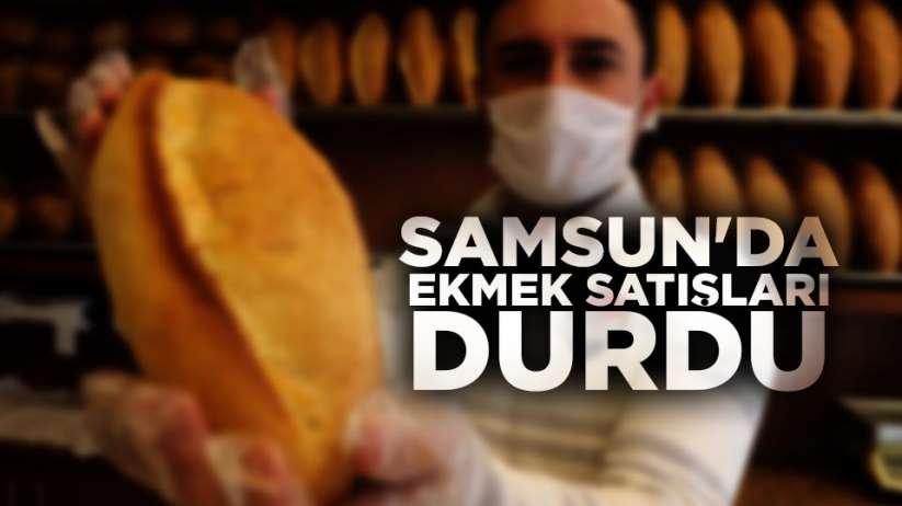 Samsun'da ekmek satışları durdu