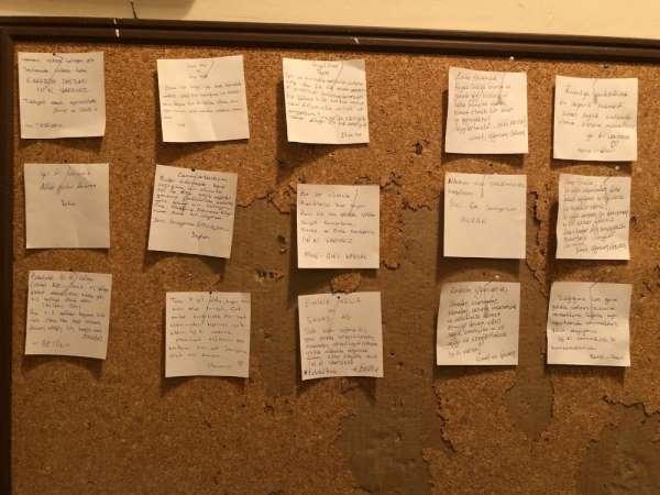 Samsun'da sağlıkçı aileye moral notları