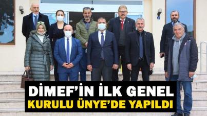 DİMEF'İN İLK GENEL KURULU ÜNYE'DE YAPILDI