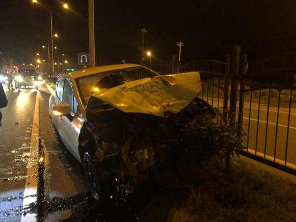 Trabzonda trafik kazası: 3 yaralı