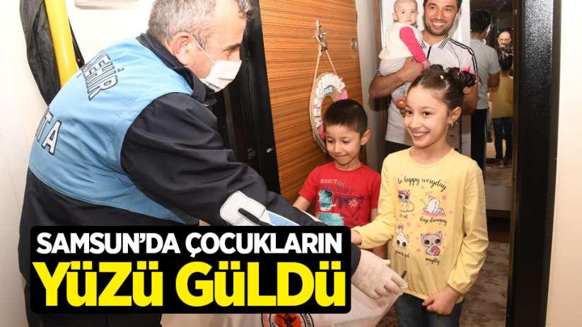 Samsun'da çocukların yüzü güldü