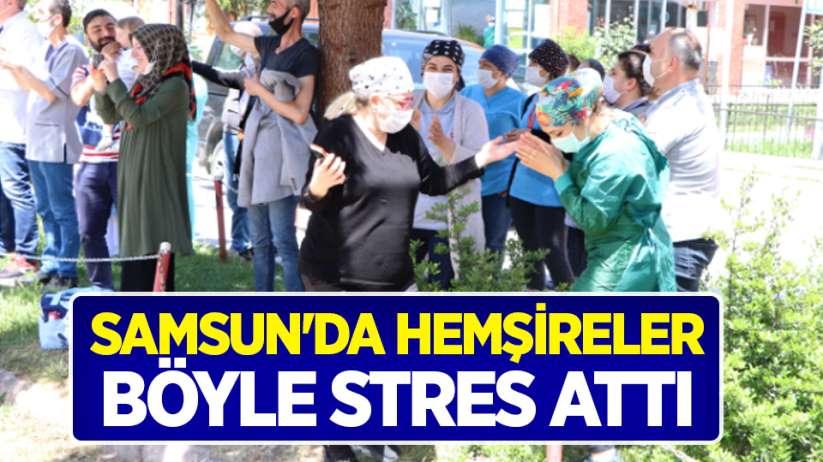 Samsun'da hemşireler böyle stres attı