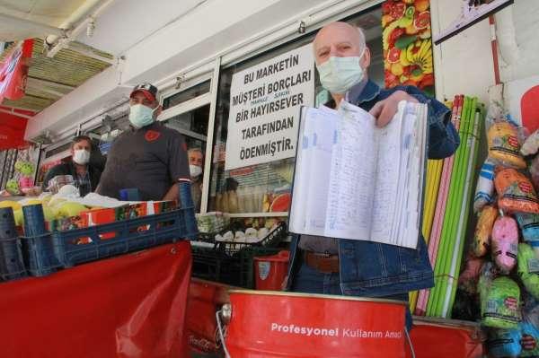 Samsunda gizemli hayırsever 100 kişinin veresiye borcunu kapattı