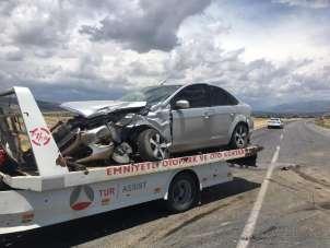 Dede torun kazada yaralandı