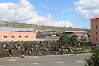 Kars'ta Şehit Yüzbaşı Ferhat Çiftçi adına 'Hatıra Ormanı' oluşturuldu