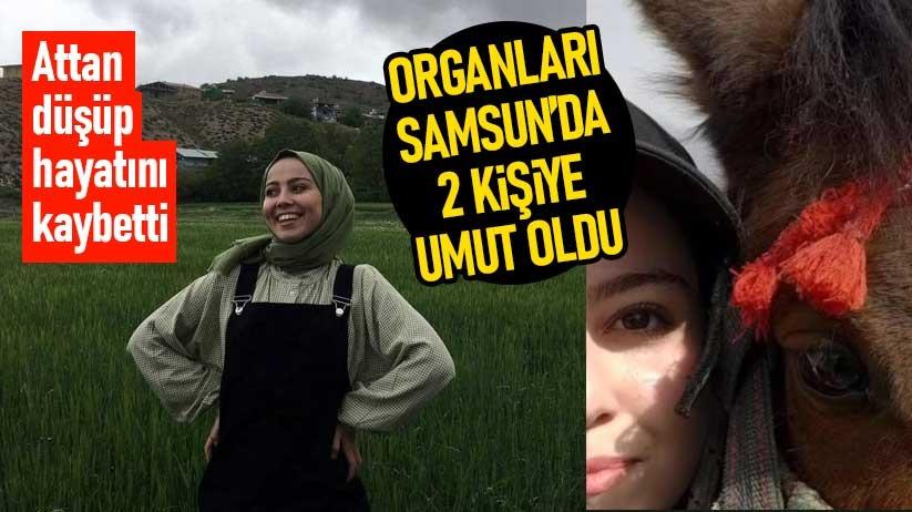Attan düşen genç kızın organları Samsunda 2 kişiye umut oldu