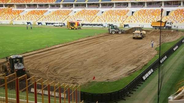 Yeni Malatya Stadyumunda çim zemin değişiyor