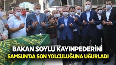 Bakan Soylu kayınpederini Samsun'da son yolculuğuna uğurladı