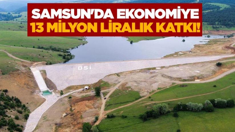 Samsunda ekonomiye 13 milyon liralık katkı!
