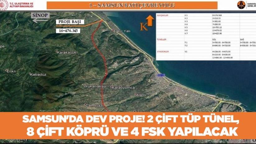 Samsunda dev proje! 2 çift tüp tünel, 8 çift köprü ve 4 FSK yapılacak
