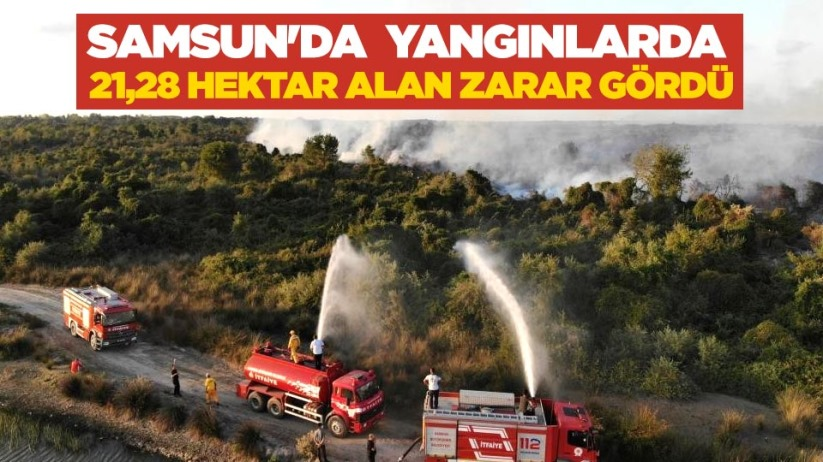 Samsunda yangınlarda 21,28 hektar alan zarar gördü
