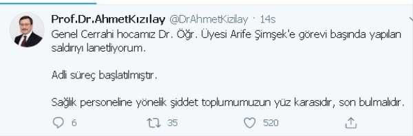 Kızılay, doktora saldırıyı kınadı