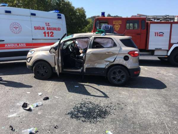 Zonguldak'ta trafik kazası: 4 yaralı