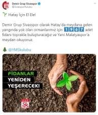 Sivasspor'dan Hatay'a fidan desteği