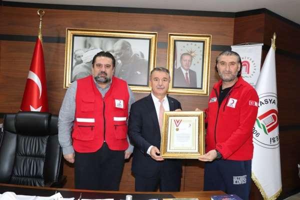 Kızılaydan Amasya Üniversitesine kurumsal bağışçı altın madalyası
