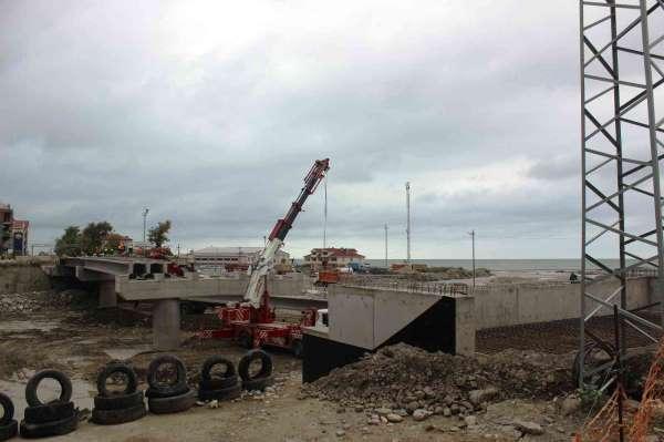 Sinop-Kastamonu yeni bağlantı köprüsü yapımında hummalı çalışmalar