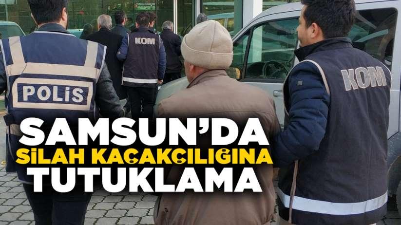 Samsun silah kaçakçılığına tutuklama