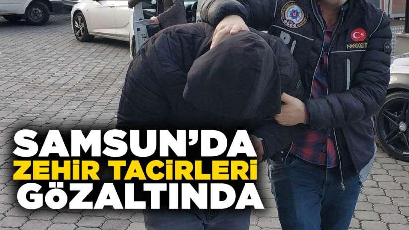 Samsun'da zehir tacirleri gözaltında