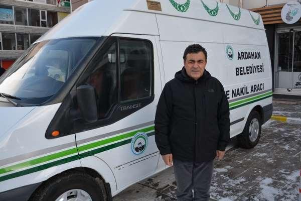 Ardahan Belediyesi araç parkına cenaze nakil aracı kazandırdı