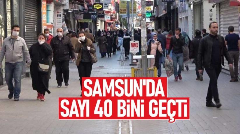 Samsun'da sayı 40 bini geçti