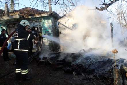 Ordu'da ahır yangını: 2 büyükbaş hayvan telef oldu