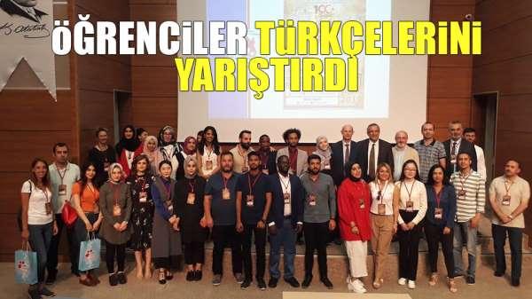 Öğrenciler Türkçelerini yarıştırdı