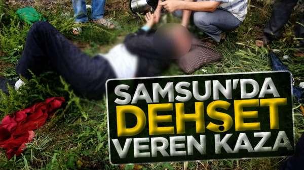 Samsun'da trafik kazasında 3 kişi yaralandı