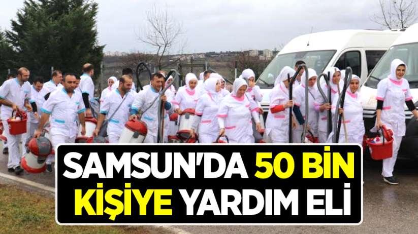 Samsun'da 50 bin kişiye yardım eli