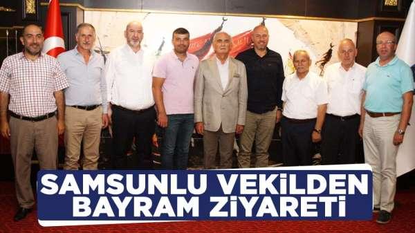Samsun Milletvekili Yusuf Ziya Yılmazdan Bayram ziyareti