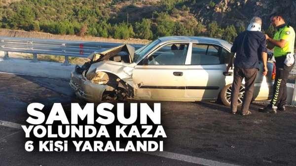 Samsun yolunda kaza: 6 yaralı