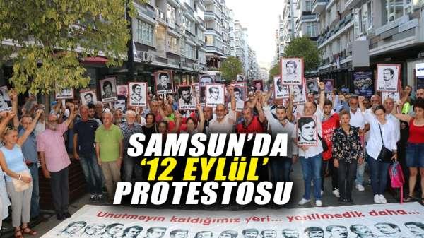 Samsun'da '12 Eylül' protestosu