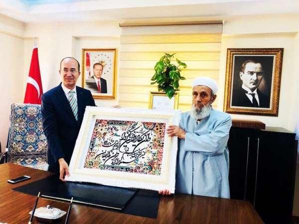 Şehit Kaymakam Safitürk'ün babası Asım Safitürk'ün Yüksekova ve Esendere ziyaret