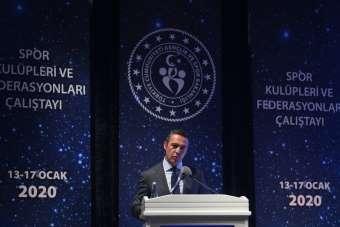 Spor Kulüpleri ve Federasyonları Çalıştayı'nda Ali Koç'tan Türk futbolunun sorun