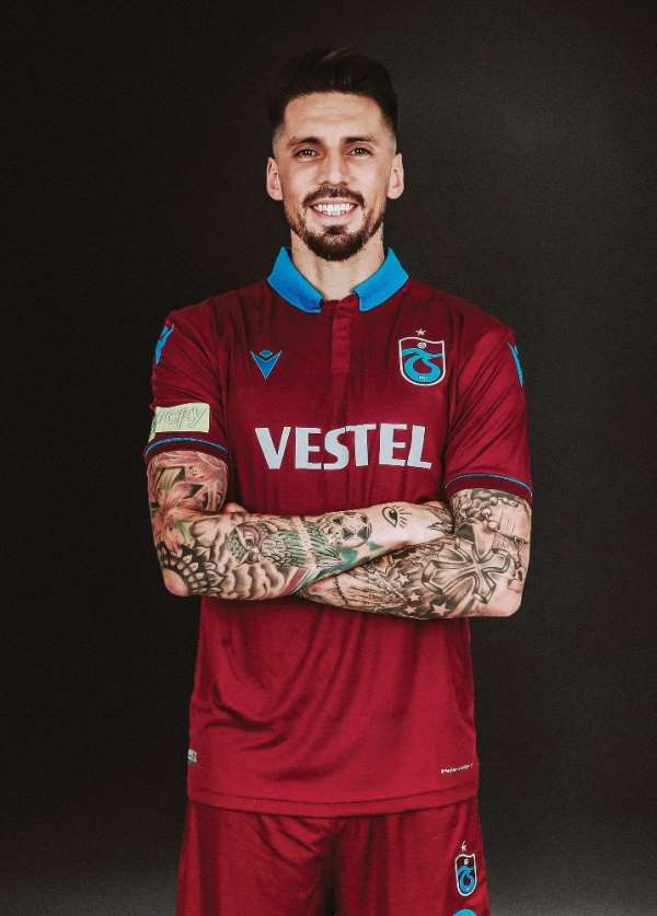 """Trabzonspor kaptanı Jose Sosa: """"Adınız Trabzonspor ise hedefiniz zirvedir"""""""