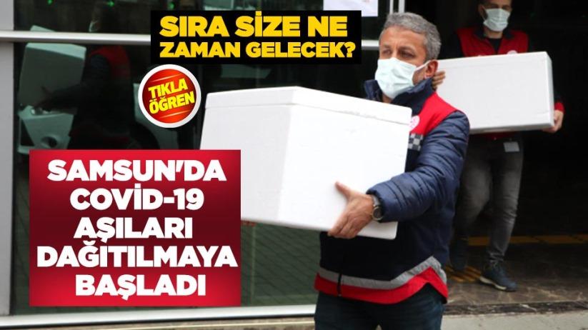 Samsun'da Covid-19 aşıları dağıtılmaya başladı