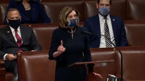 ABD Temsilciler Meclisi Başkanı Pelosi: 'Bu isyancılar yurtsever değildi, yerli teröristlerdi ve adalet hüküm
