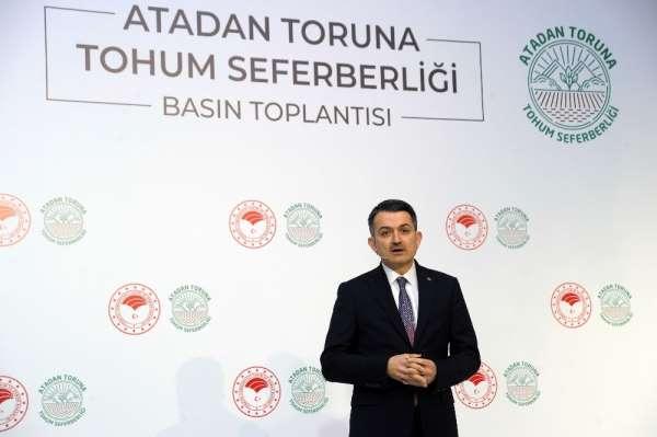 Bakan Pakdemirli: 'Cumhuriyet tarihinin en kapsamlı yerli tohum seferberliğini b