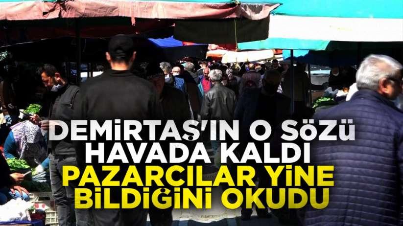 Samsun'da halk pazarlara akın etti
