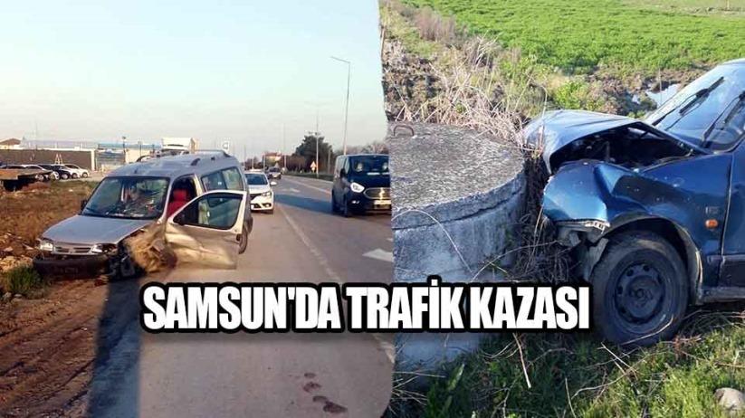Samsunda trafik kazası