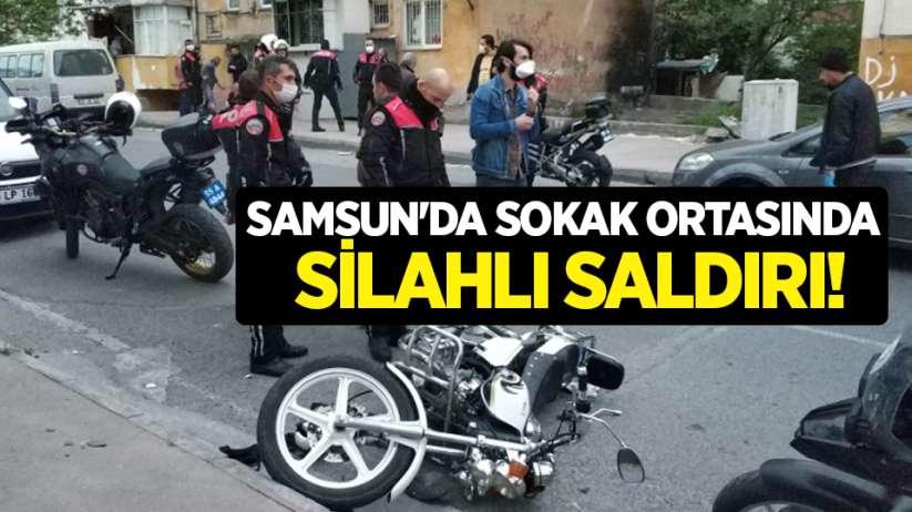 Samsun'da sokak ortasında silahlı saldırı!