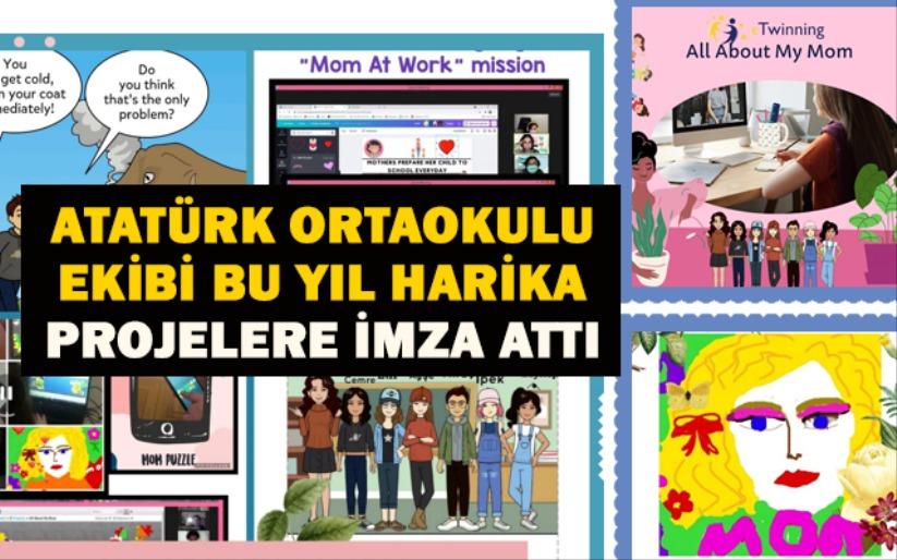 Atatürk Ortaokulu ekibi bu yıl harika projelere imza attı