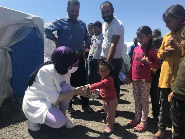 Şehit yakınlarından tarım işçilerinin çocuklarına bayramlık