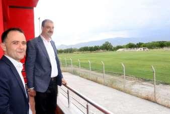 Bakan Yardımcısı Aksu, 24Erzincanspor tesislerini ziyaret etti