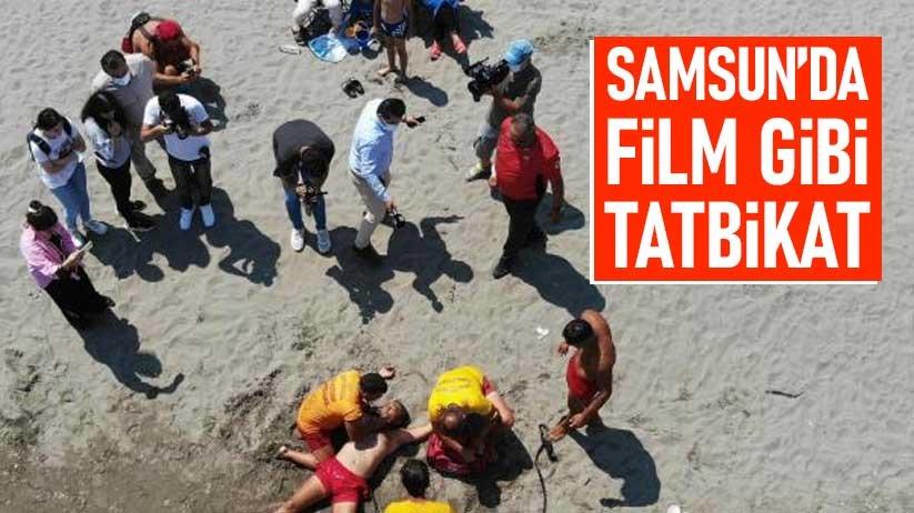 Samsunda film gibi tatbikat