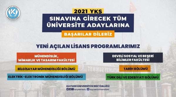Kayseri Üniversitesinde yeni açılan lisans programları öğrenci alımına başlıyor