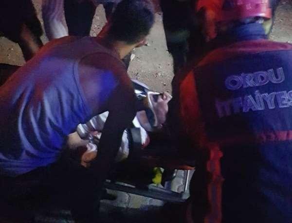 Yük asansörü boşluğunda yaralandı