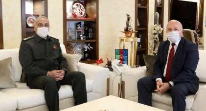9. Kolordu Komutanı Uzun'dan Başkan Sekmen'e ziyaret
