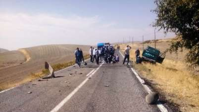 Arapgir'de kaza: 2 yaralı